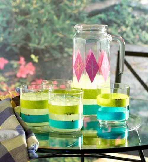 Набор из кувшина и стаканов в стиле ретро