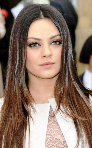 Прическа для круглого лица и длинных волос
