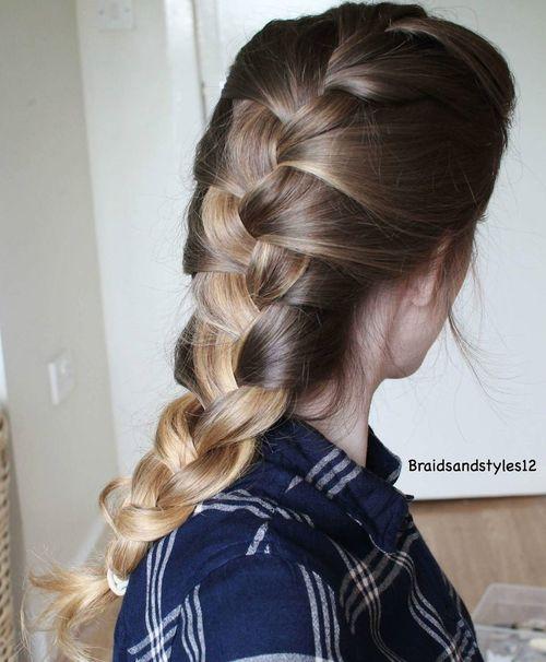 Двутоновая французская коса