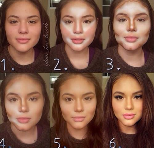 Как при помощи макияжа удлинить лицо