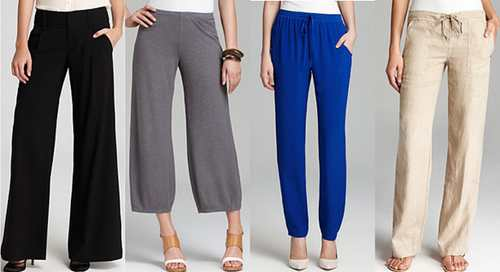 Джинсы и брюки для типа фигуры Перевернутый треугольник