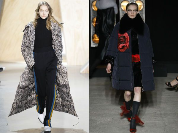 мода стеганые пальто