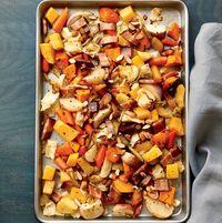 Запеченный зимний овощной салат. Полезный рецепт